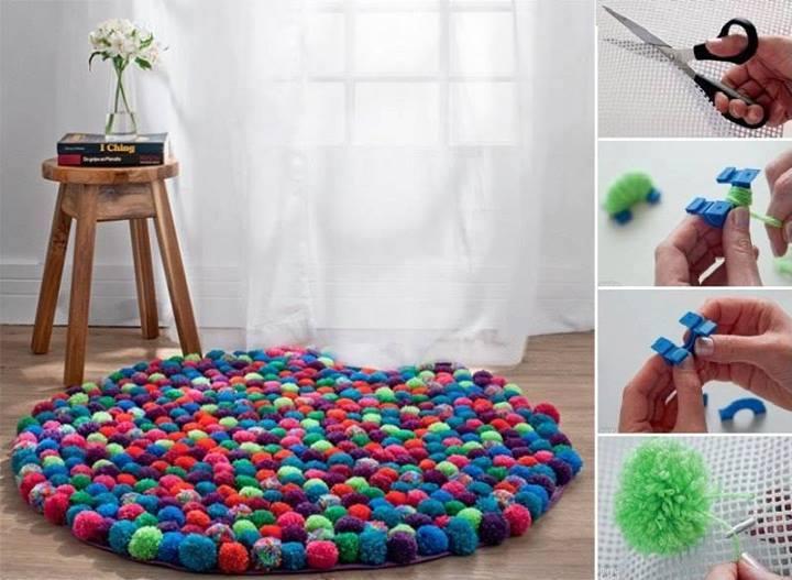 comment r aliser un tapis en pompons la maison quebec echantillons gratuits. Black Bedroom Furniture Sets. Home Design Ideas