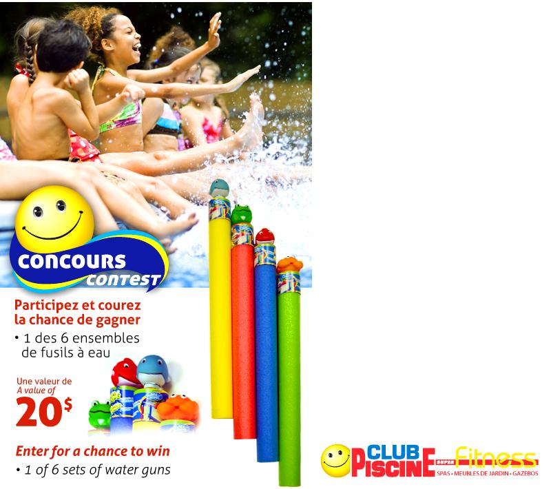 6 ensembles de fusils eau offrir for Club piscine rabais