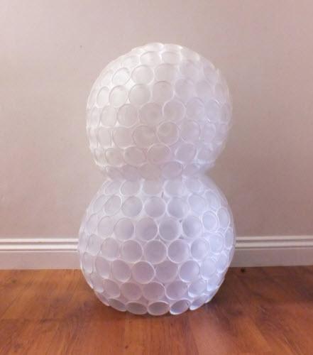 Comment faire des bonhommes de neige avec des gobelets en plastique quebec echantillons gratuits - Deco avec gobelet plastique ...