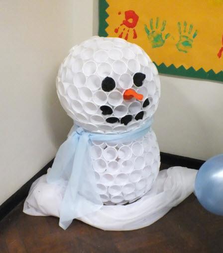 Comment faire des bonhommes de neige avec des gobelets en plastique quebec echantillons gratuits - Faire un bonhomme de neige avec des gobelets ...