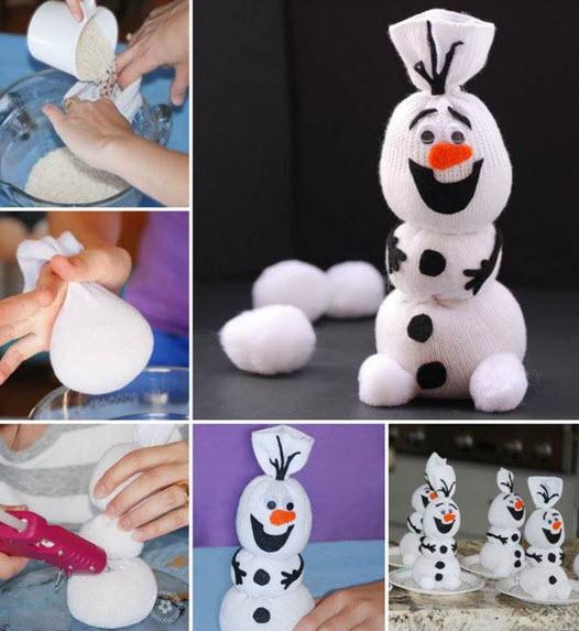 Comment Faire Le Bonhomme De Neige Olaf Avec Une Simple Chaussette
