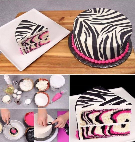 Comment faire un gateau zebre rose