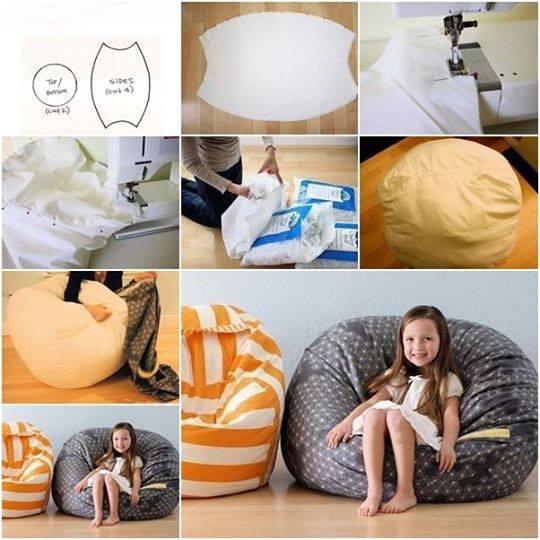 comment confectionner un gros pouf fatboy pour enfant. Black Bedroom Furniture Sets. Home Design Ideas
