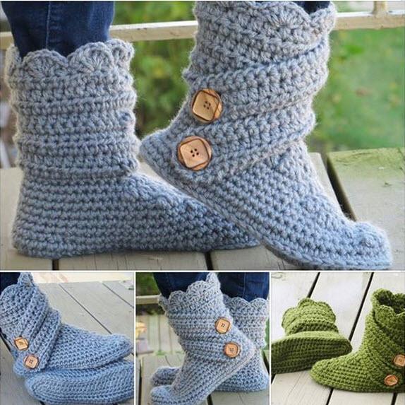 comment tricoter des pantoufles