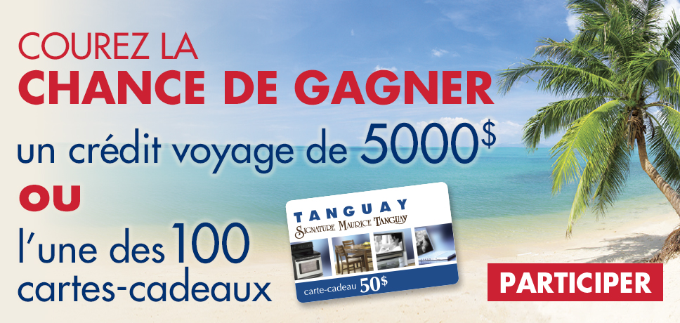 gagnez un cr dit voyage de 5000 ou 100 cartes cadeaux de 50 quebec echantillons gratuits. Black Bedroom Furniture Sets. Home Design Ideas