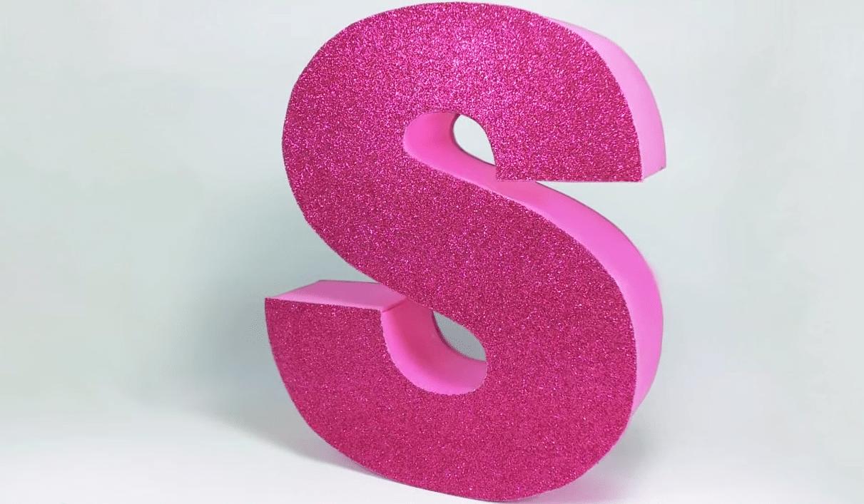 Comment fabriquer des lettres en 3d pour une d coration de - Pot en 3 lettres ...