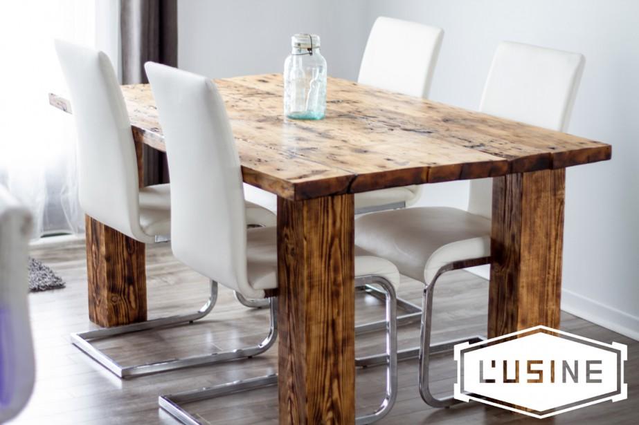 Gagnez un magnifique ensemble de salle d ner de 3000 for Meuble avec bois de grange