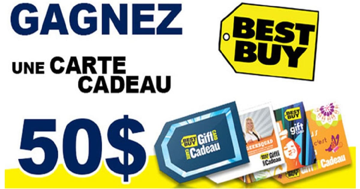 une carte cadeau best buy de 50 gagner quebec echantillons gratuits. Black Bedroom Furniture Sets. Home Design Ideas