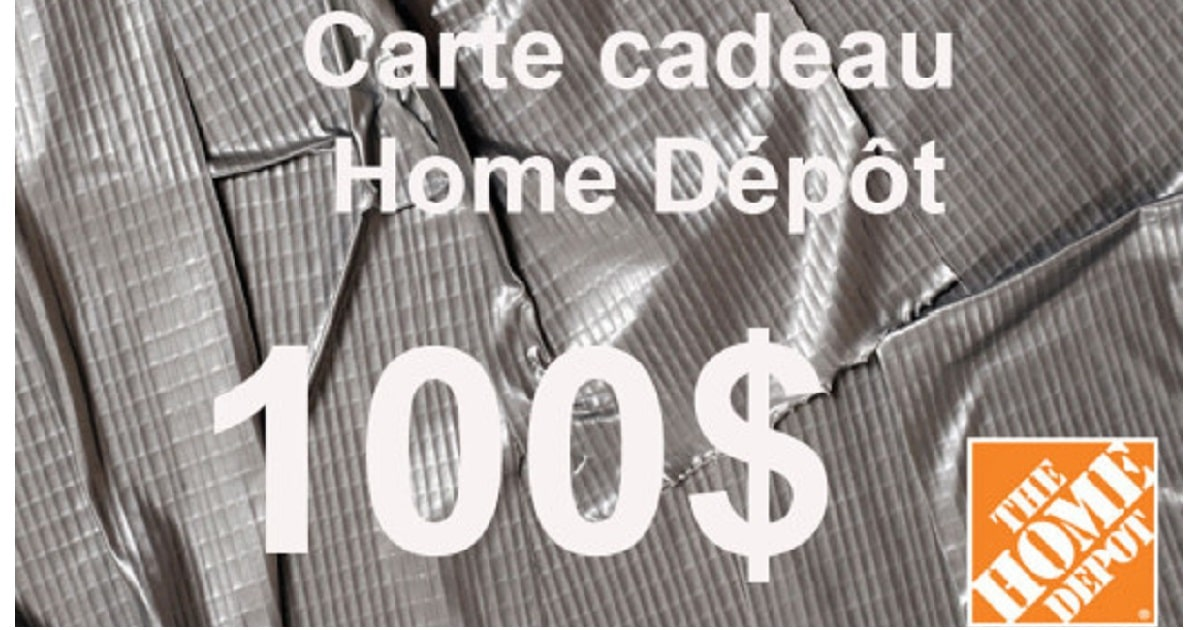 carte cadeau home depot de 100 gagner. Black Bedroom Furniture Sets. Home Design Ideas