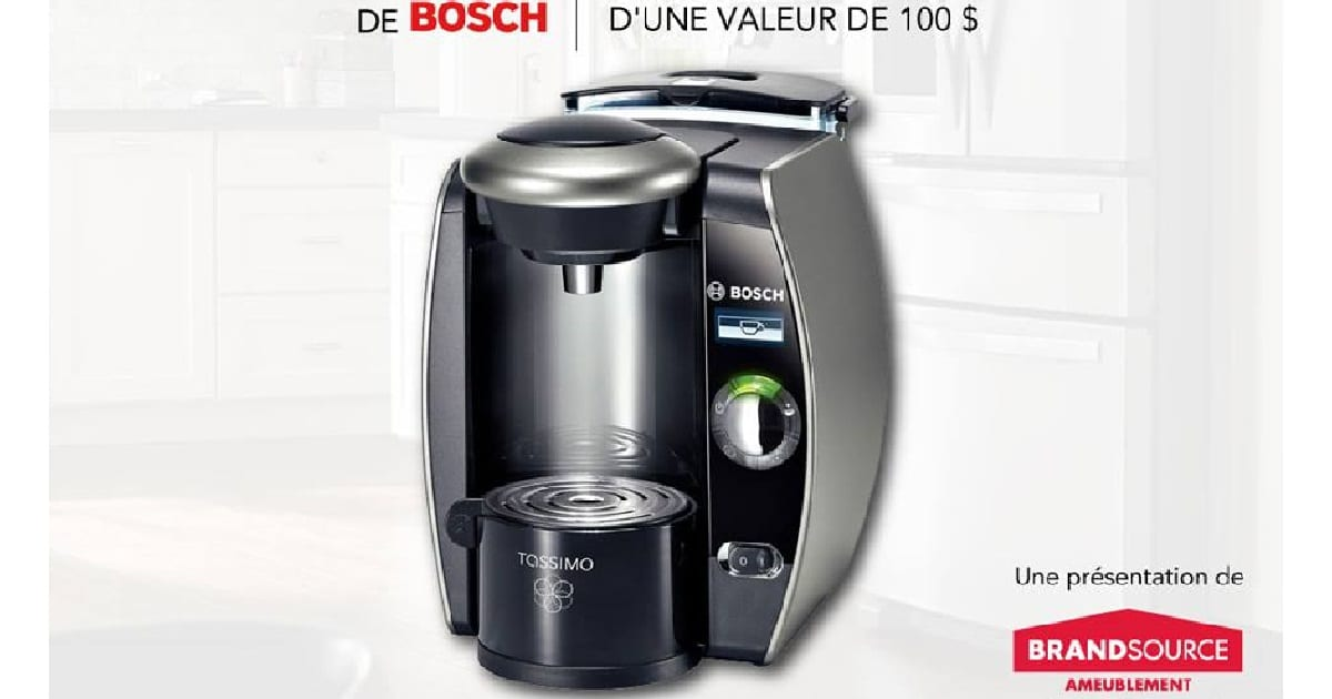 concours gagnez une cafeti re bosch tassimo d 39 une valeur de 100. Black Bedroom Furniture Sets. Home Design Ideas