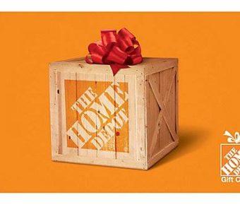 carte cadeau home depot de 100 gagner quebec echantillons gratuits. Black Bedroom Furniture Sets. Home Design Ideas