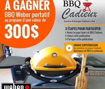 Gagnez un bbq weber portatif au propane - Barbecue weber portatif ...