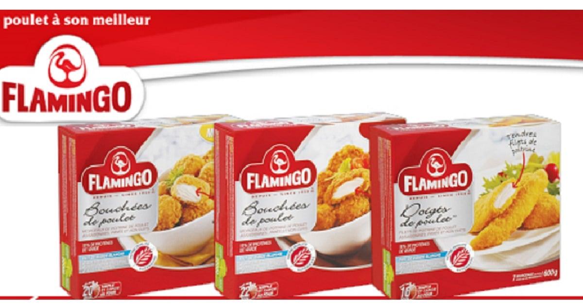 produits du poulet pan flamingo 4 98 au lieu de 10 99. Black Bedroom Furniture Sets. Home Design Ideas
