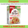 Coupon de gratuité sur un produit Kellogg's All Bran Multi-Grain Grunch ou All-Bran Buds