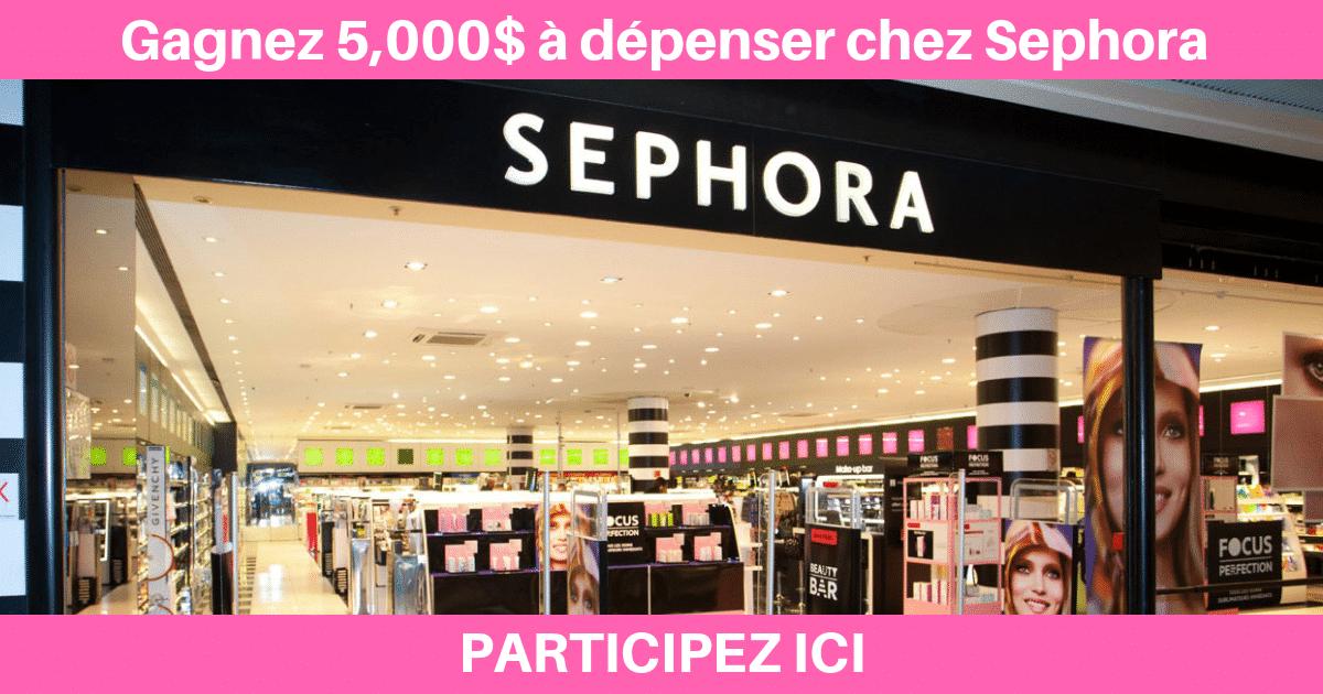 Gagnez Une Carte Cadeau Sephora De 5000 Quebec