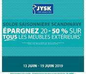Circulaire Jysk 13 juin – 19 juin 2019