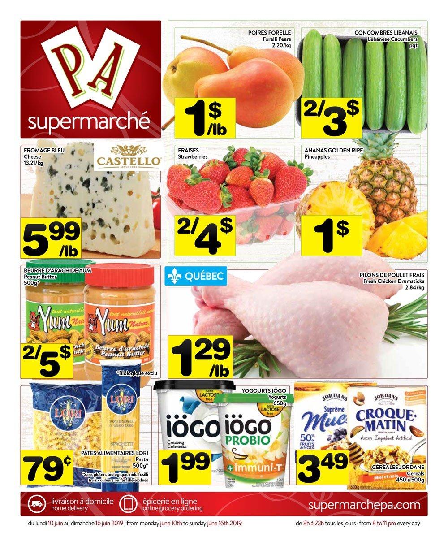 Circulaire Supermarché PA 10 juin – 16 juin 2019