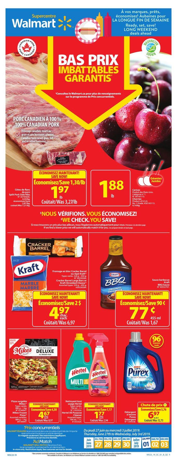 Circulaire Walmart 27 juin – 3 juillet 2019