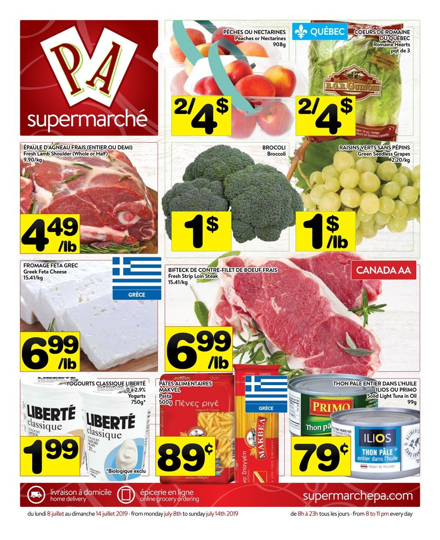 Circulaire Supermarché PA 8 juillet – 14 juillet 2019