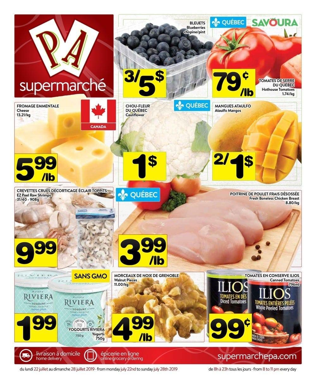 Circulaire Supermarché PA 22 juillet – 28 juillet 2019