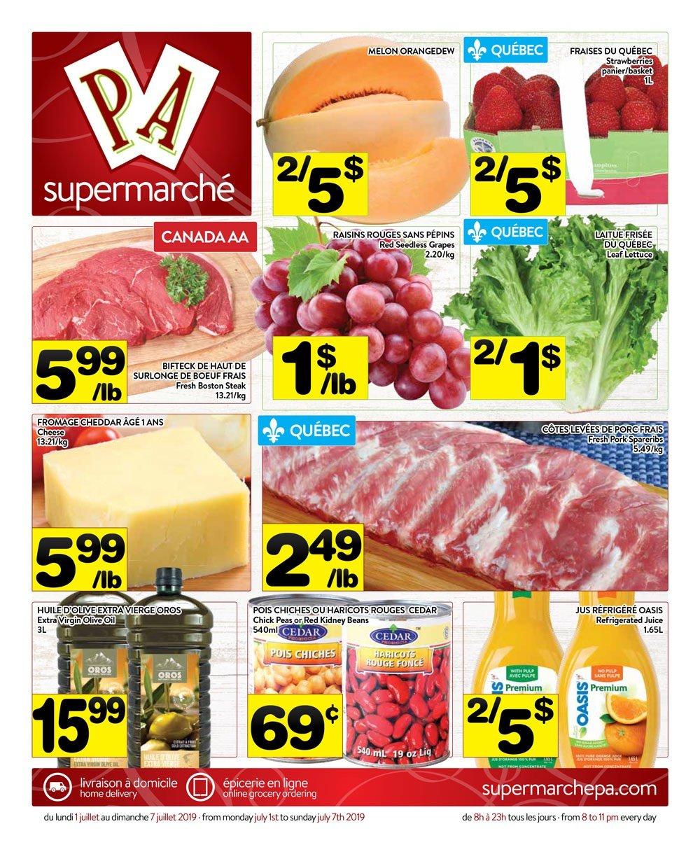 Circulaire Supermarché PA 1 juillet – 7 juillet 2019