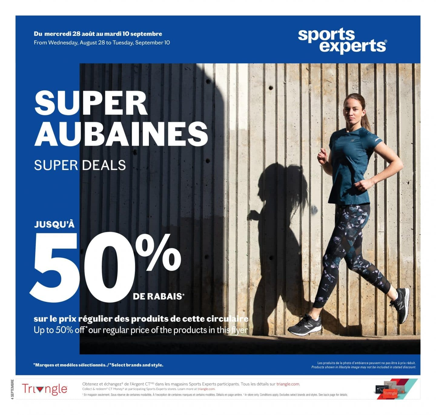 Circulaire Sports Experts 28 août - 10 septembre 2019