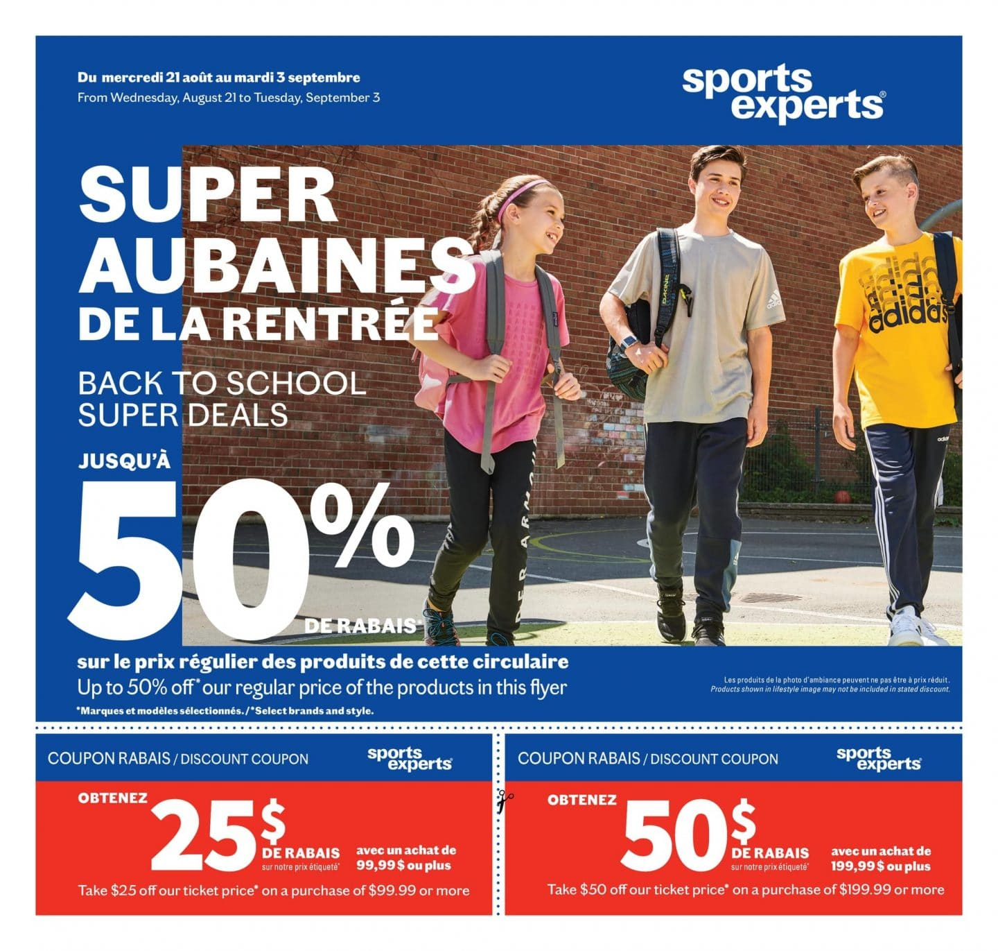 Circulaire Sports Experts 21 août – 3 septembre 2019