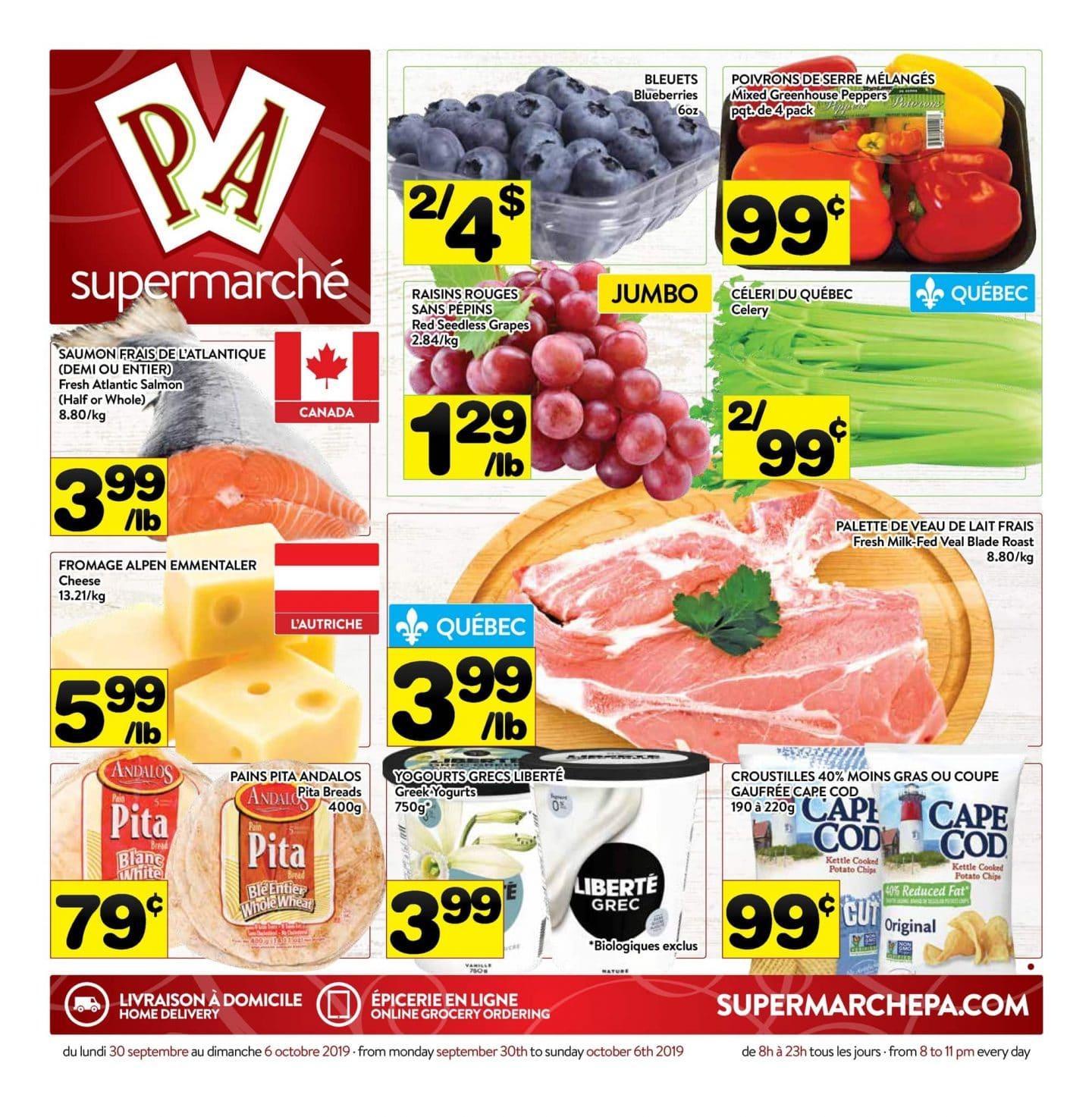 Circulaire Supermarché PA 30 septembre - 6 octobre 2019