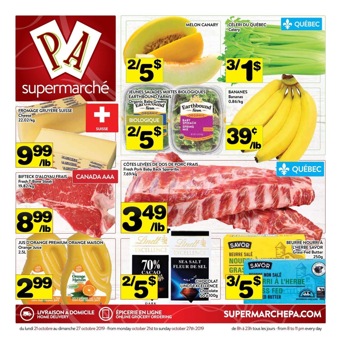 Circulaire Supermarché PA 21 octobre – 27 octobre 2019