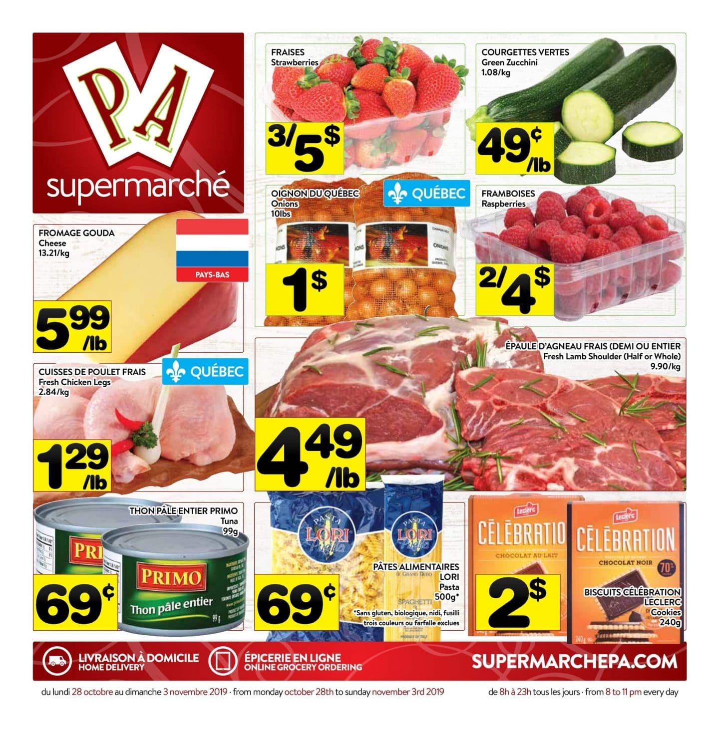 Circulaire Supermarché PA 28 octobre – 2 novembre 2019
