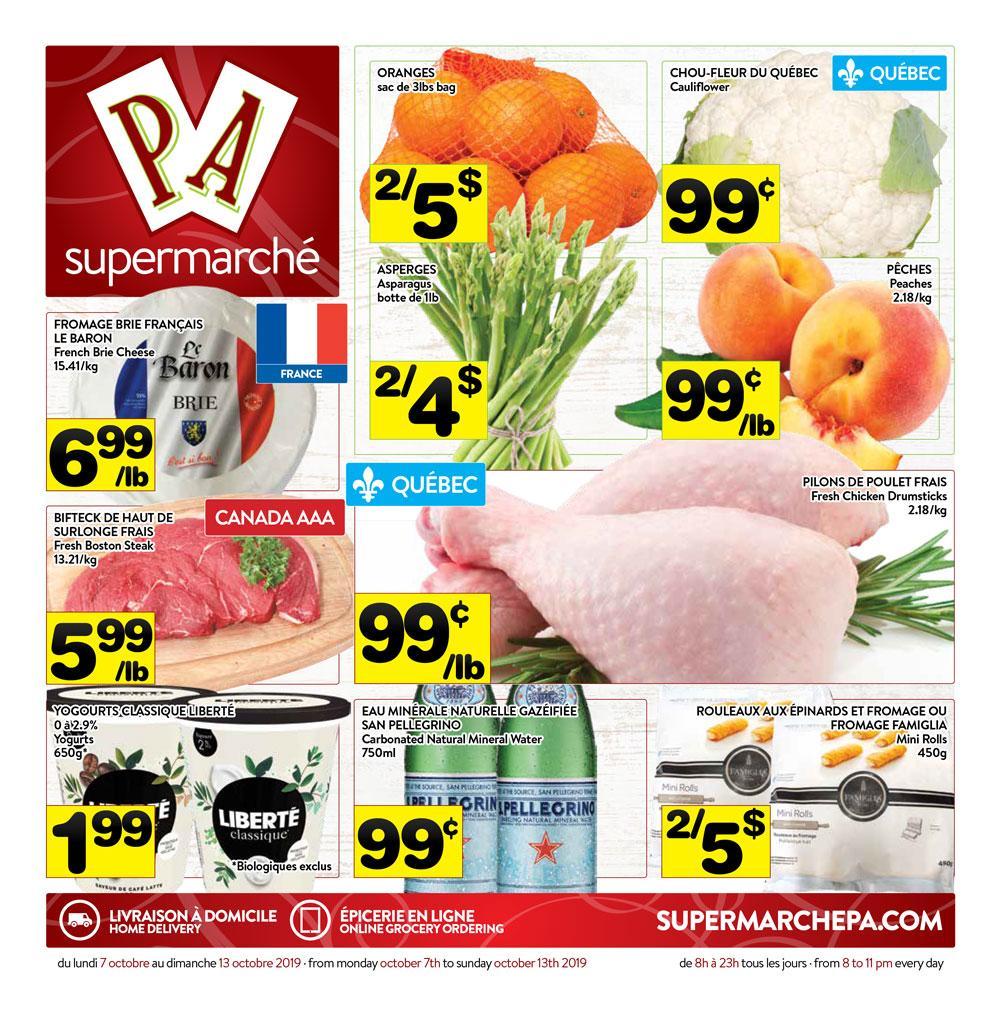 Circulaire Supermarché PA 7 octobre – 13 octobre 2019