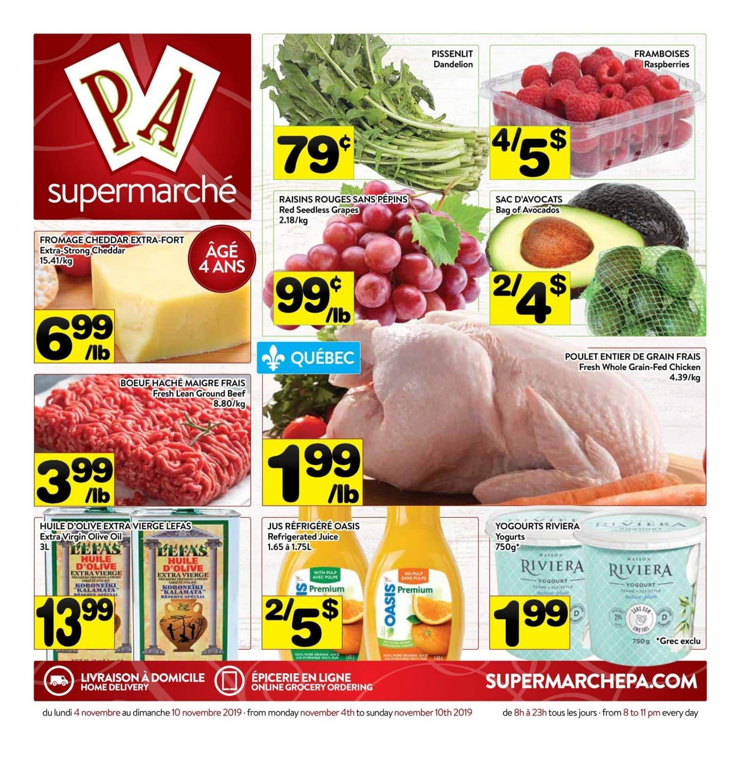 Circulaire Supermarché PA 4 novembre – 10 novembre 2019