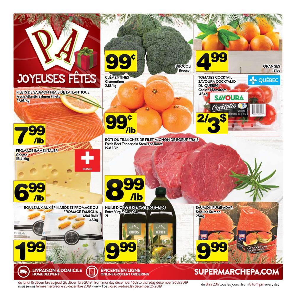 Circulaire Supermarché PA 16 décembre – 26 décembre 2019