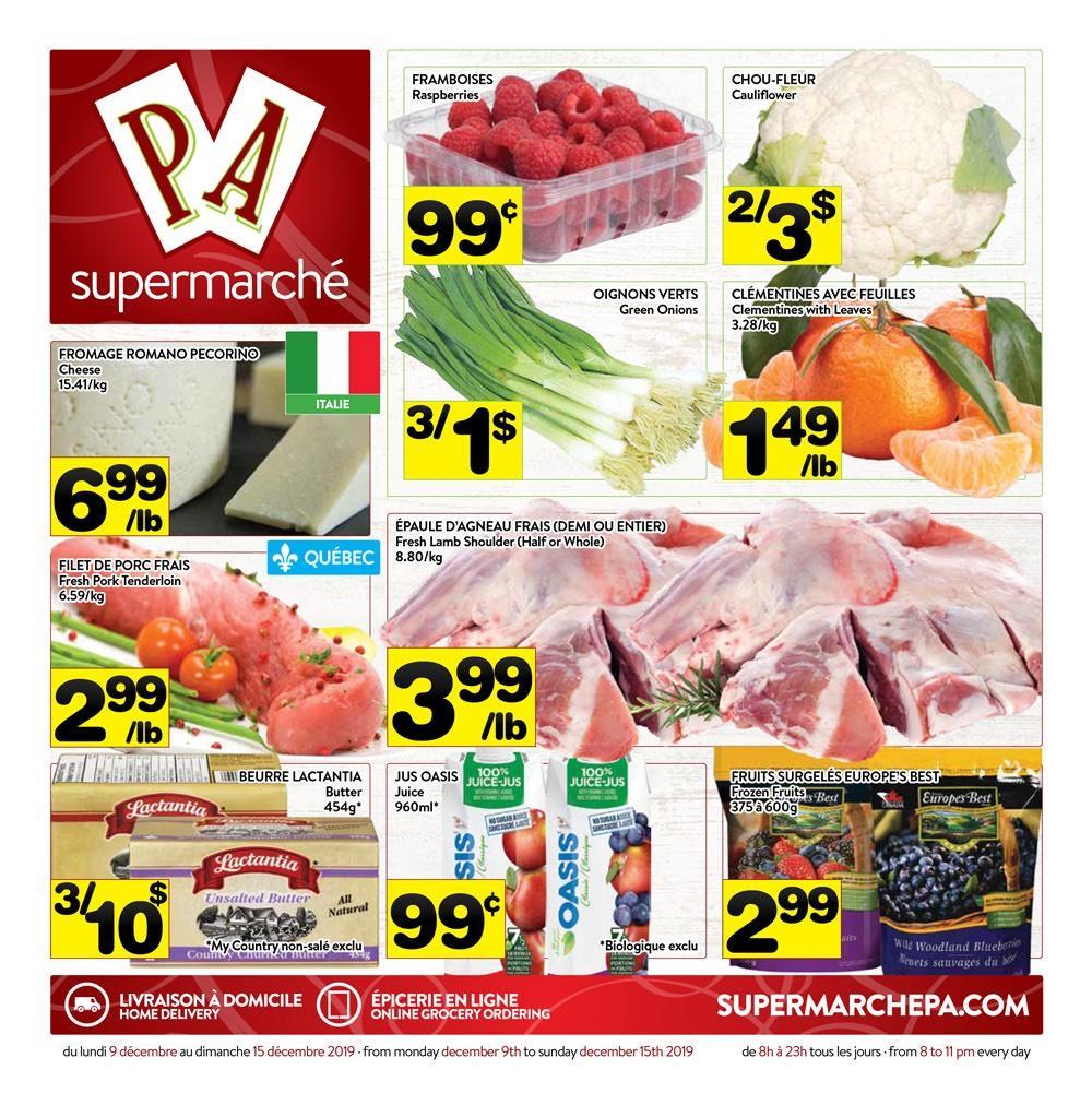 Circulaire Supermarché PA 9 décembre - 15 décembre 2019