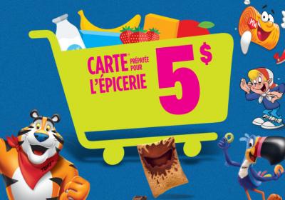 carte epicerie kelloggs canada concours
