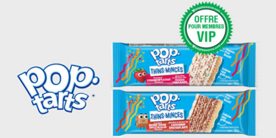 echantillons gratuits de Pop Tarts Minces tartelettes