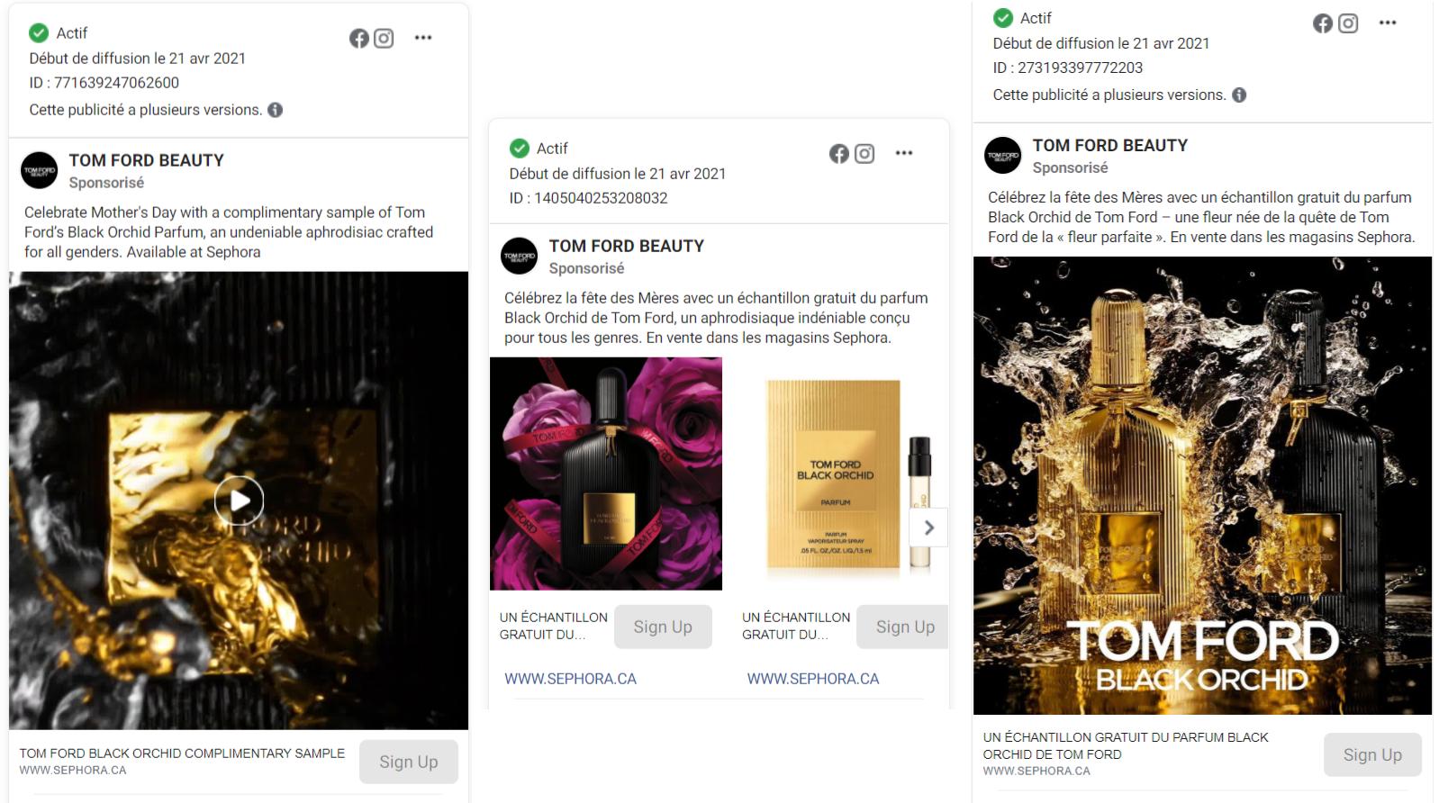 tom ford echantillons gratuits parfum black orchid