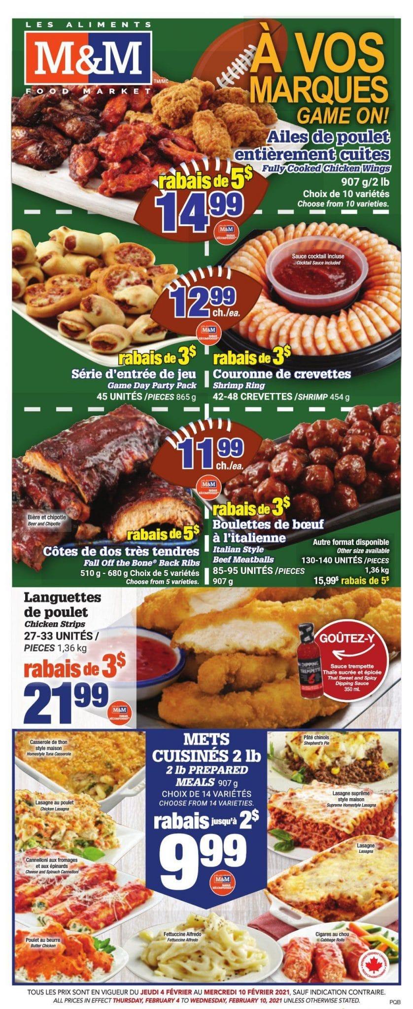 Circulaire Les Aliments M & M 4 Février – 10 Février 2021