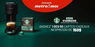 carte cadeau nespresso concours metro 1