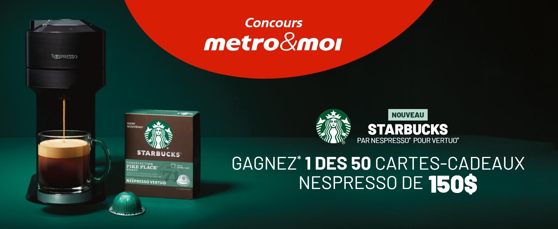 carte cadeau nespresso concours metro