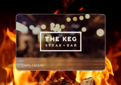 keg steakhouse carte cadeau concours