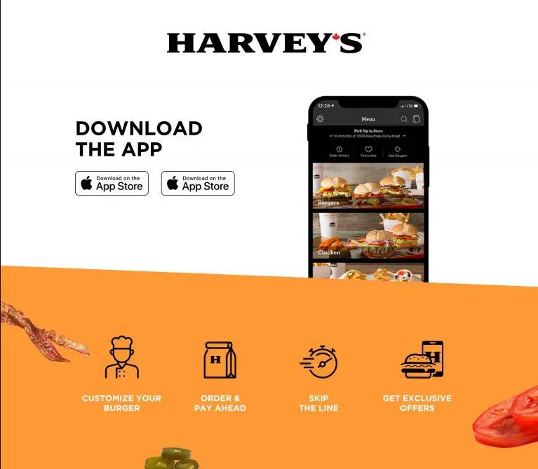 Coupons Rabais Harveys valides dans votre application mobile