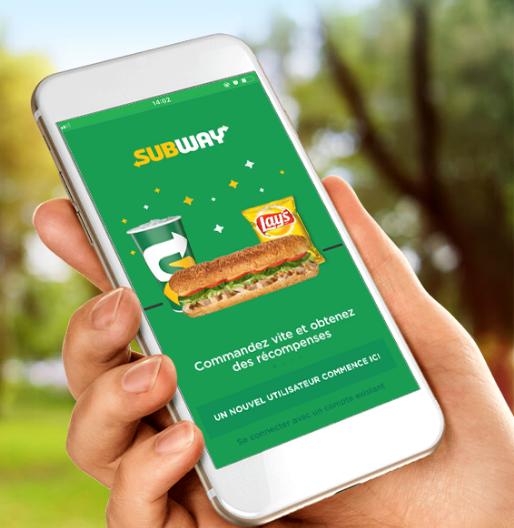 Rabais Subway application mobile