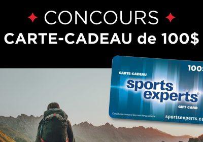 sports experts carte cadeau concours