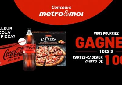 cartes cadeaux metro concours coca cola
