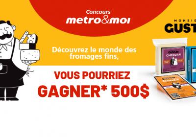 metro carte cadeau gustav fromage concours 1