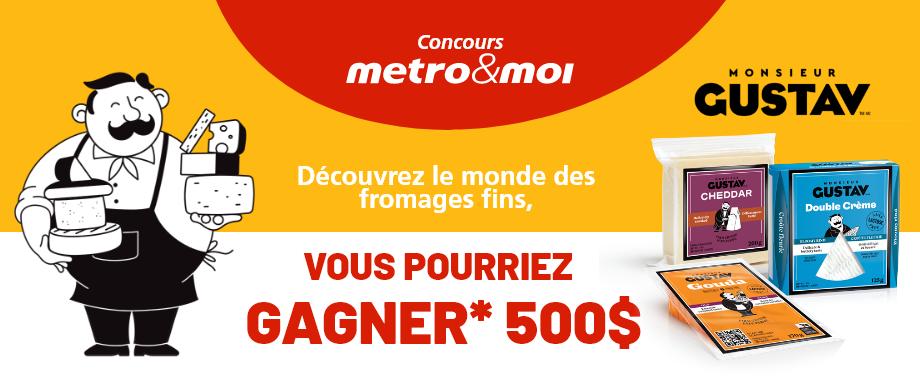 metro carte cadeau gustav fromage concours