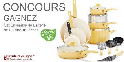 batterie de cuisine greenlife concours