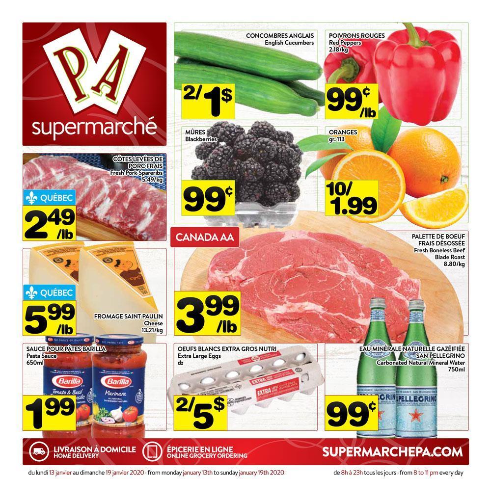01 - Circulaire Supermarché PA 13 janvier – 19 janvier 2020