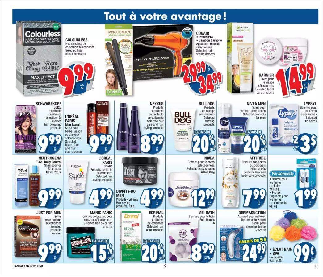 02 - Circulaire Jean Coutu 16 janvier – 22 janvier 2020. Plus de rabais!